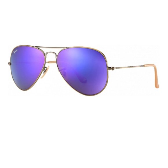 Ray-Ban Gold Purple Lens Aviators